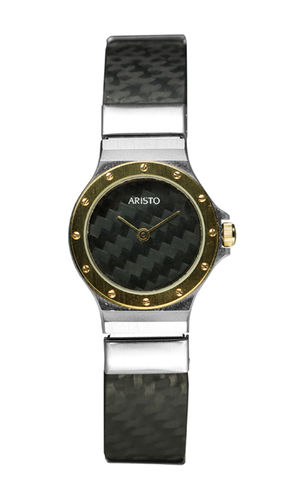 ARISTO Lady Design Carbon Quarzuhr
